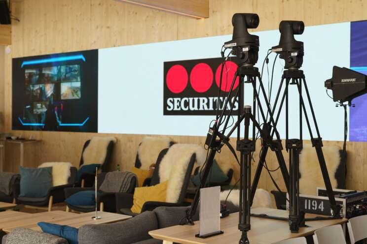 Media equipment at Securitas event