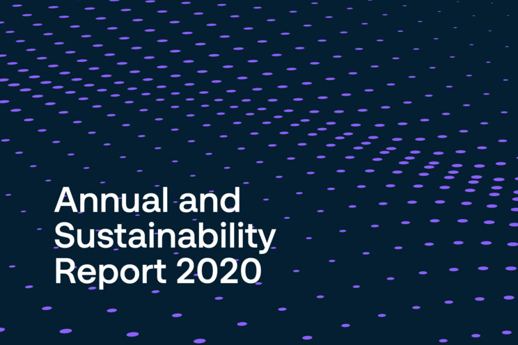 Image showing the cover of the Securitas Annual and Sustainability Report 2020 with text in English