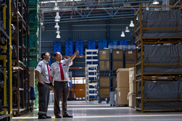 Guardia de Seguridad de Securitas en la industria.