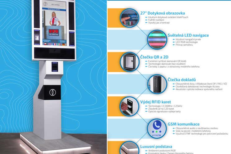 Securitas navrhne, nainstaluje a zajistí servis samoobslužného zařízení eRecepce.