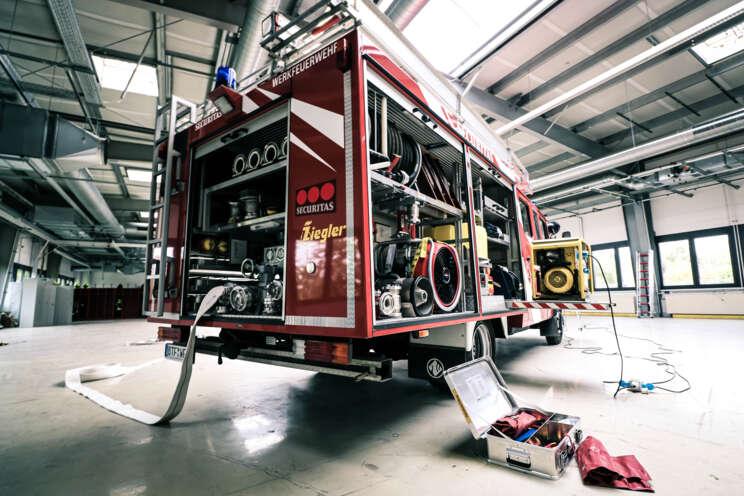 Feuerwehrwagen der Securitas Werkfeuerwehr