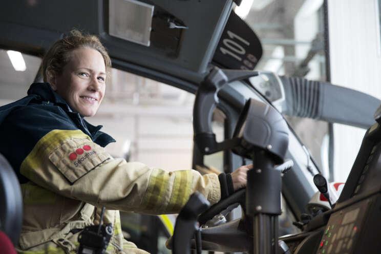 Sicherheitsmitarbeiterin Securitas Fire & Safety