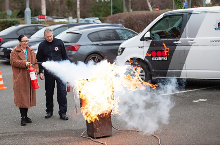 Fire marshal training by Securitas