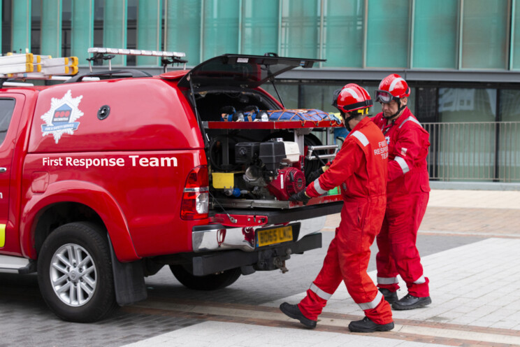 Securitas fire safety first response on-site team