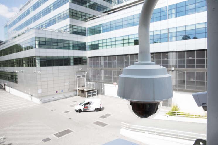 Videoüberwachungssystem im Einsatz