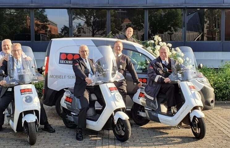 Elektrische scooters voor beveiliging Universiteit Maastricht