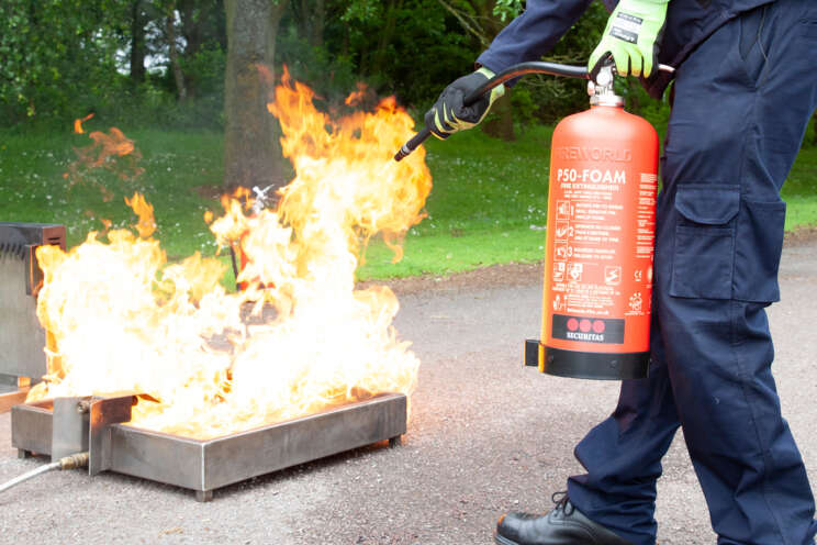 Fire and Safety by Securitas P50 fire extinguisher