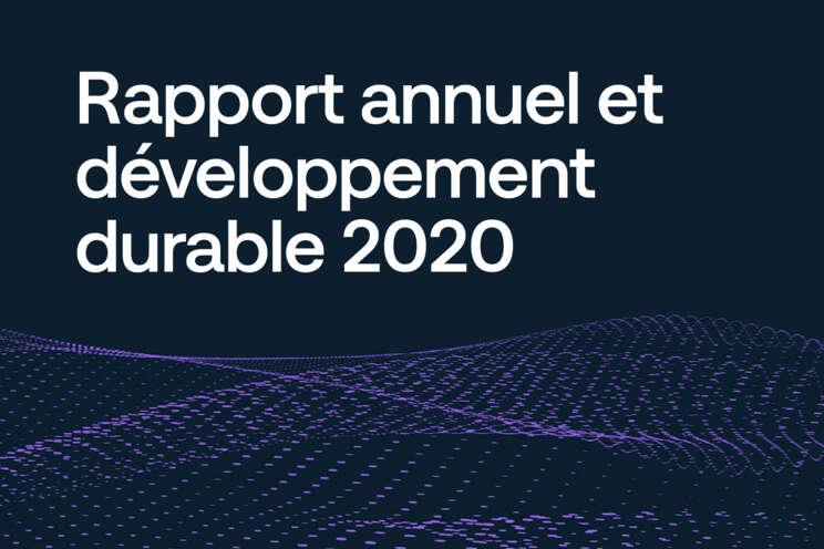 Rapport annuel et développement durable 2020