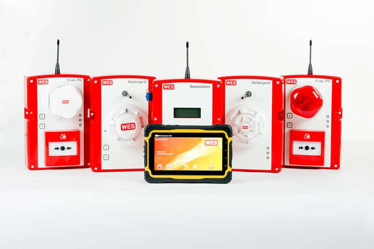 Mobiles Brandmelde- und Evakuierungssystem