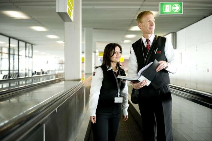 Sicherheitsmitarbeiter am Flughafen