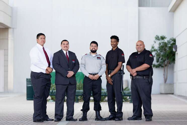 A group of Securitas security officers.