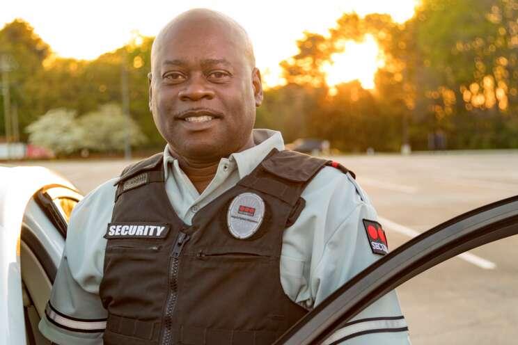Male mobile guarding officer