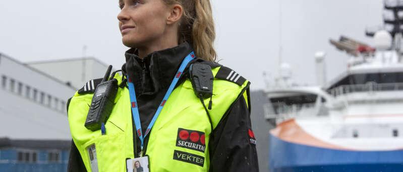 Securitasvekter på Havna i Bergen
