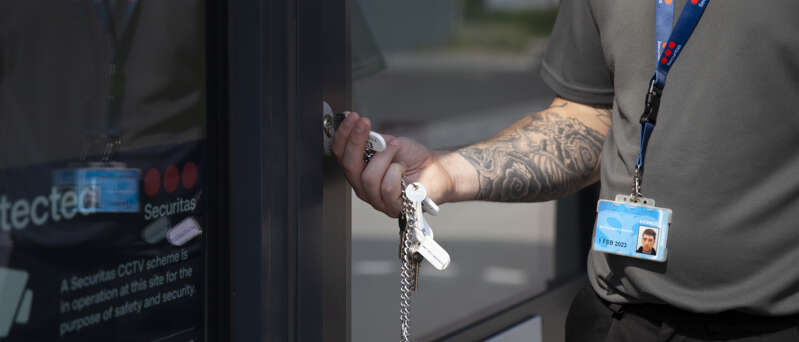 Locks and unlocks by Securitas