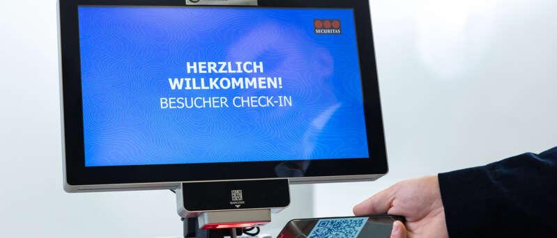 Securitas Besucher Check-in mit kontaktloser Temperaturmessung