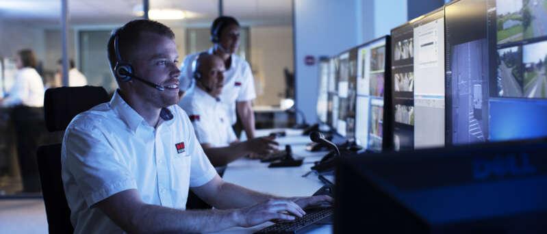 Operador de Securitas en Centro de Operaciones.