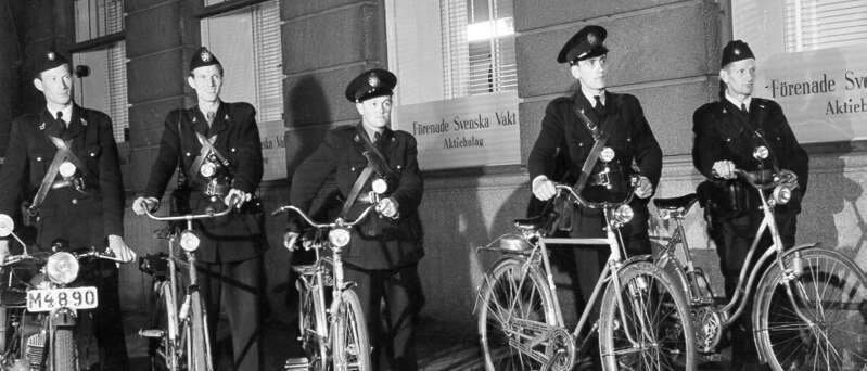 guards on bikes old picture