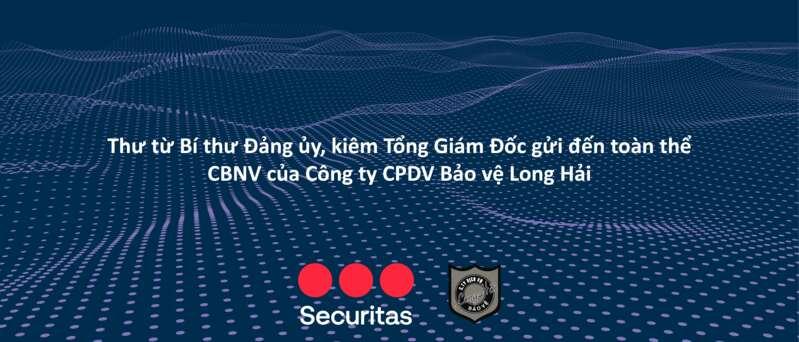 Thư từ Bí thư Đảng ủy, kiêm Tổng Giám Đốc gửi đến toàn thể CBNV của Công ty CPDV Bảo vệ Long Hải