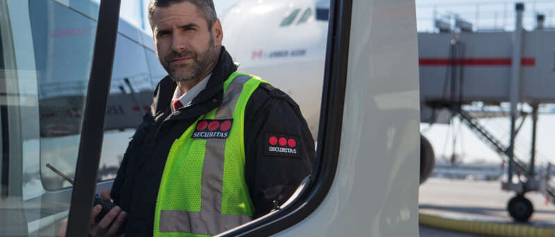 Security Manager on Tarmac Securitas Aviation Canada