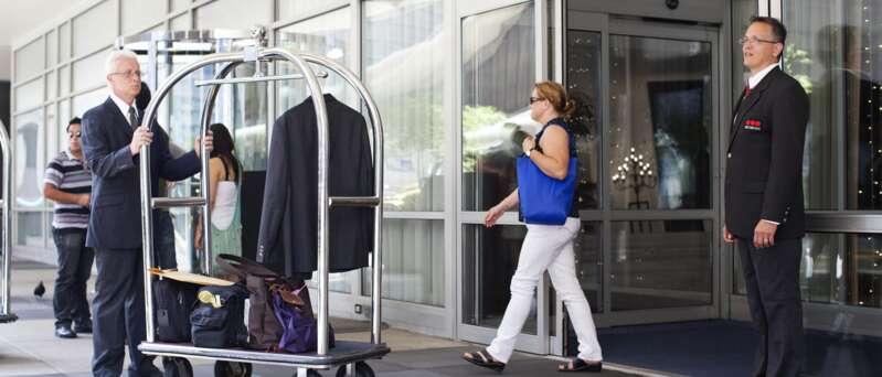 Guardia de Seguridad de Securitas en hotelería.