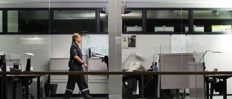 Guardia de Seguridad Securitas en Oficinas