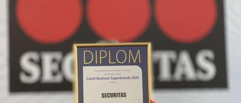 SECURITAS ČR získala ocenění Czech Business Superbrands 2020