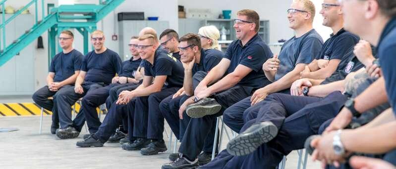 Ausbildung angehender Feuerwehrleute
