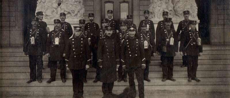 Sicherheitsmitarbeiter im frühen 20. Jahrhundert
