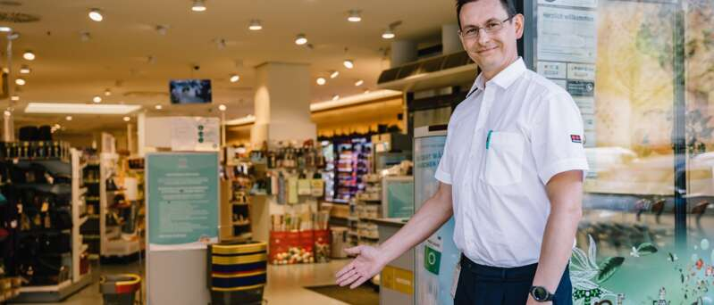 Sicherheitsmitarbeiter im Einzelhandel