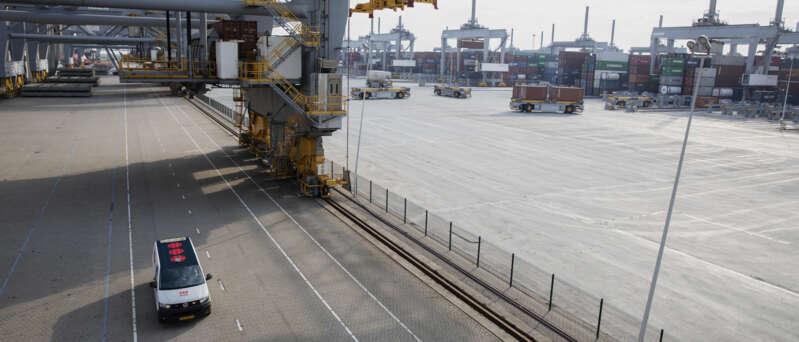 Sicherheitslösung für einen Hafen