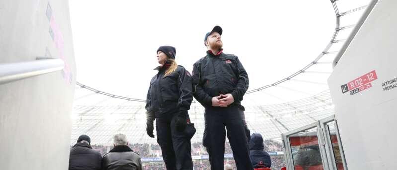 Stadionsicherheit - Mitarbeiter bei der Sport & Event Security